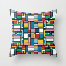 Map Outline Throw Pillow