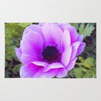 Pink Poppy Anemone I Rug