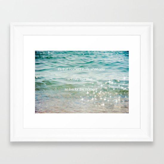 It's that moment in time Framed Art Print