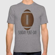 Sunday Punt-day Mens Fitted Tee Athletic Grey SMALL