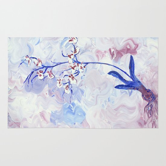 Orchids Area & Throw Rug