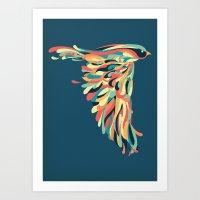 Art Print featuring Downstroke by Jay Fleck