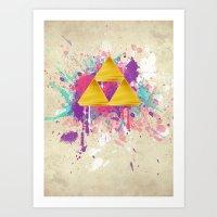 Splash Triforce Art Print
