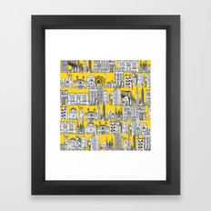 New York Yellow Framed Art Print