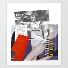 Football Fashion #3 Art Print
