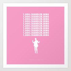 Hotline Bling AKA Chandler Bing // www.pencilmeinstationery.com Art Print