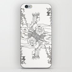 The Queen (Twins) - Black/White iPhone & iPod Skin