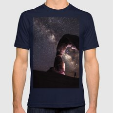 Watching stars Mens Fitted Tee Navy SMALL