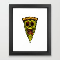 Pizza Face - Zombie Framed Art Print