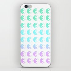 turquoise yin yang gradient iPhone & iPod Skin