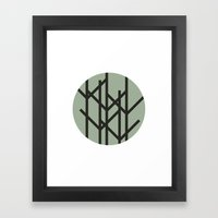 #59 Sunset in the woods  – Geometry Daily Framed Art Print