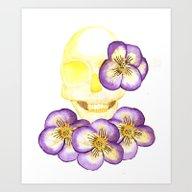 Halloween Flower Skull Art Print