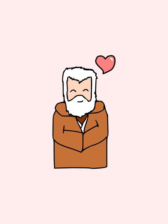 Obi-Wan Valentine Art Print