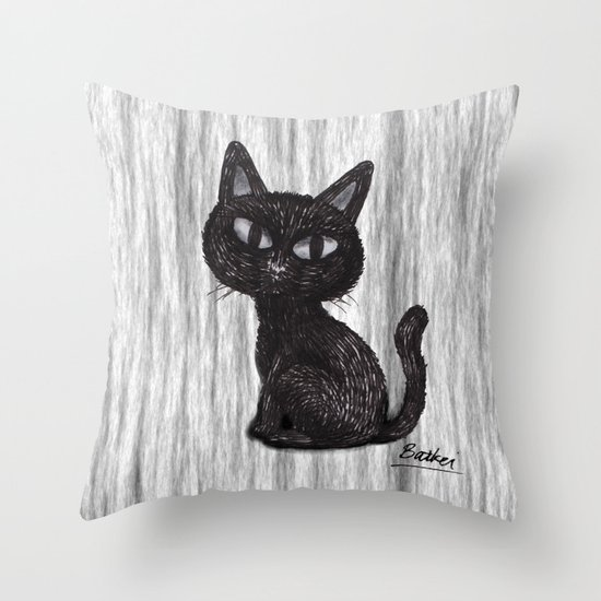 BLACK CAT 2 Throw Pillow