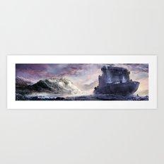 Abandoned cruiser Art Print