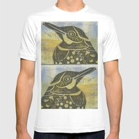 Northern Flicker Mens Fitted Tee White SMALL