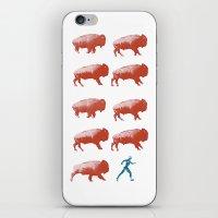 Bull run iPhone & iPod Skin