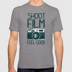 Shoot Film Mens Fitted Tee Tri-Grey SMALL