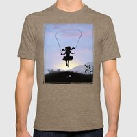 Cat Kid Mens Fitted Tee Tri-Coffee SMALL