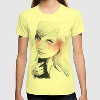 Ania Womens Fitted Tee Lemon SMALL