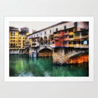 Pont Vecchio Art Print