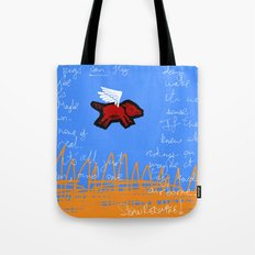 fly, little pig Tote Bag