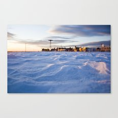 Snowy Coney Island Canvas Print