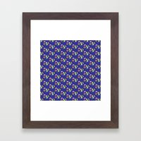 Happy Dinos Framed Art Print