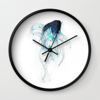 Ghost Fish Wall Clock