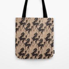 Burlap horses Tote Bag