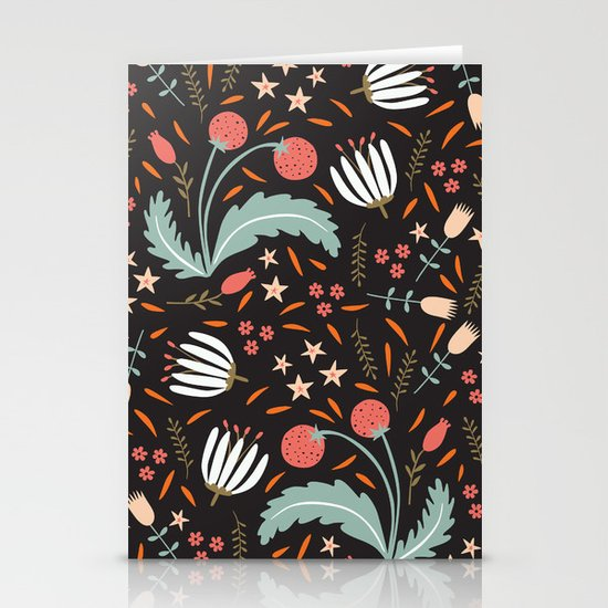 Floral Fusion Stationery Card