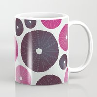 Sea's Design - Urchin Skeleton (Pink & Black) Mug