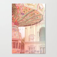 Viena carousel  Canvas Print