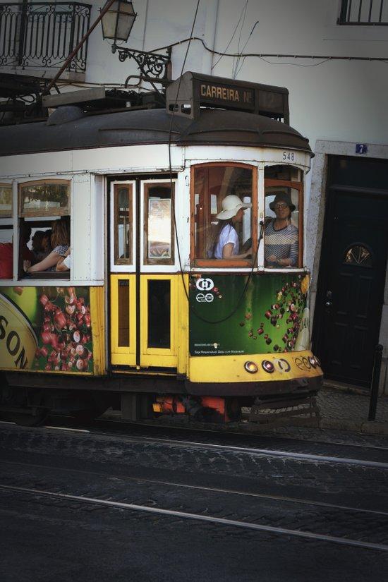 Tram. Lisbon, Portugal. Art Print