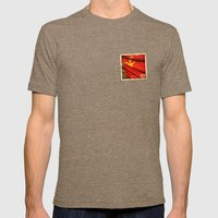 Sticker of Soviet Union (1922-1991) flag Mens Fitted Tee Tri-Coffee SMALL