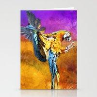 Dazzling Macaw Stationery Cards