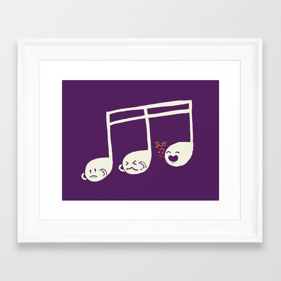 Sounds O.K. (off key) Framed Art Print