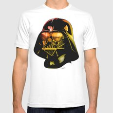 STAR WARS Darth Vader White SMALL Mens Fitted Tee