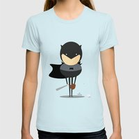 My Baseball Hero! Womens Fitted Tee Light Blue SMALL
