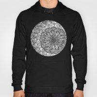 Shades of Grey - mono floral doodle Hoody