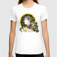 Believe In Sherlock Holm… Womens Fitted Tee White SMALL