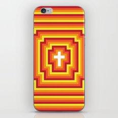 Technicolour Cross - Orange iPhone & iPod Skin
