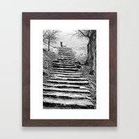 Dovedale Steps Framed Art Print