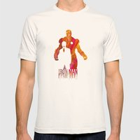 Iron Man Mens Fitted Tee Natural SMALL