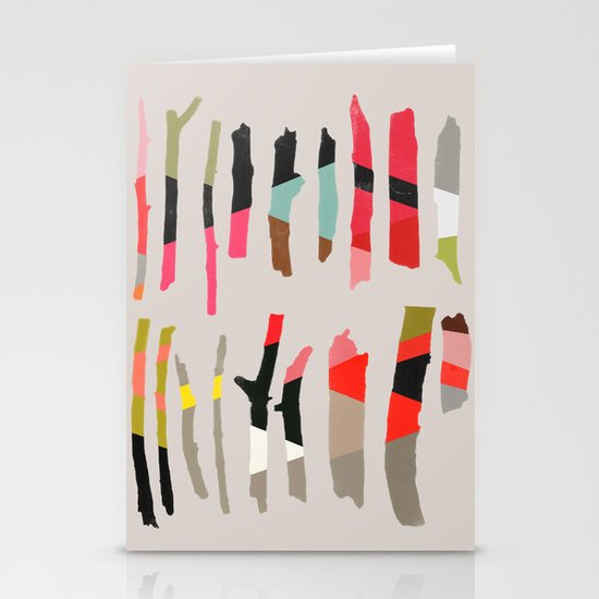Painted Twigs 1 Stationery Card
