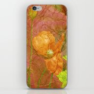 iPhone & iPod Skin featuring The Last Poppys 2 by Die Farbenfluesterin