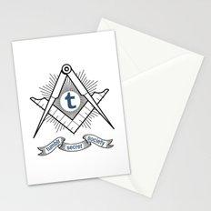 Tumblr Secret Society Stationery Cards