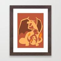 Pokemon 4 5 And 6 Framed Art Print