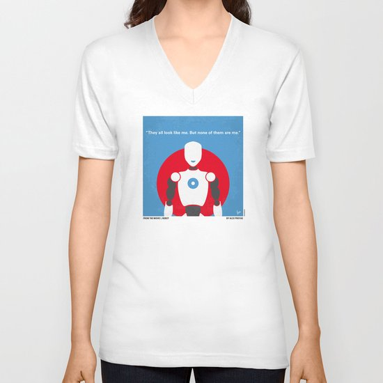 No275 My I ROBOT minimal movie poster V-neck T-shirt