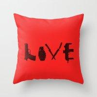 LOVE - Bloody Valentine Throw Pillow